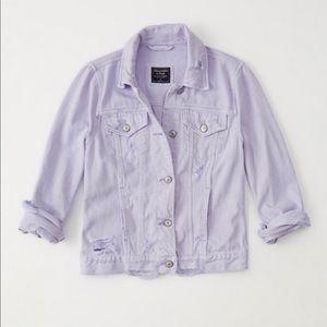 Abercrombie & Fitch Purple Jean Jacket